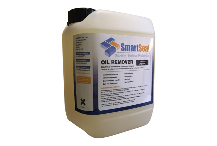 Oil stain remover for tarmac and asphalt surfaces smartseal for Driveway stain remover